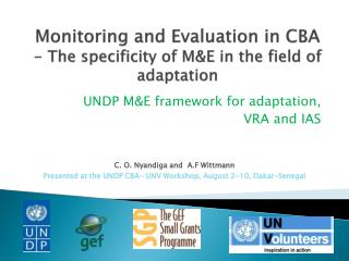 Monitoring and Evaluation in CBA - The specificity of M&E in the field of adaptation