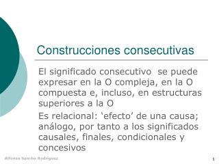 Construcciones consecutivas