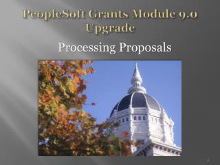 PeopleSoft Grants Module 9.0 Upgrade
