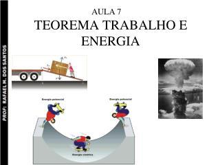 TEOREMA TRABALHO E ENERGIA