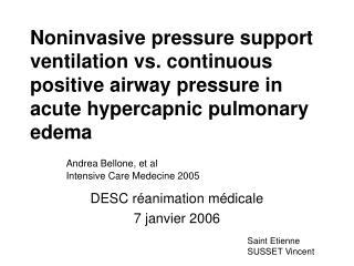 DESC réanimation médicale 7 janvier 2006