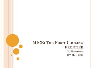 MICE: The First Cooling Frontier