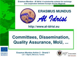 Committees, Dissemination, Quality Assurance,  MoU , ...