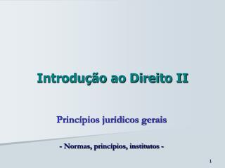 Introdução ao Direito II