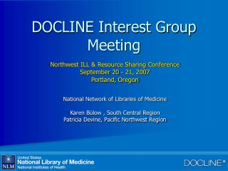 DOCLINE Interest Group Meeting