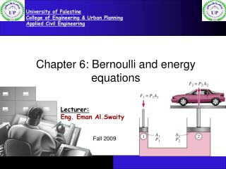 Chapter 6: Bernoulli and energy equations