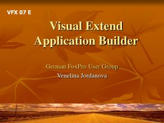 Visual Extend Application Builder