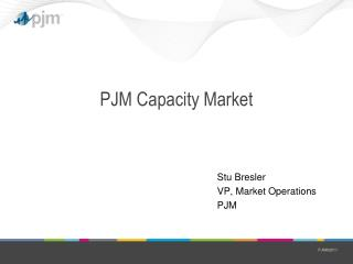 PJM Capacity Market