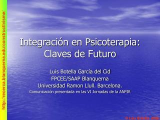 Integración en Psicoterapia: Claves de Futuro