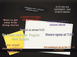 Pagets Got Talent!
