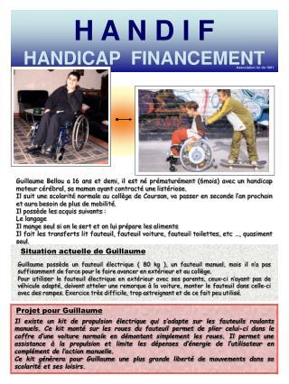 H A N D I F HANDICAP  FINANCEMENT