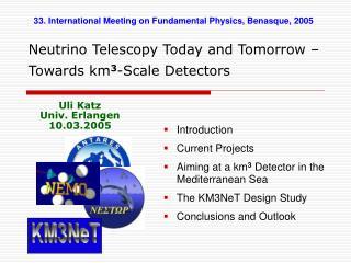 Neutrino Telescopy Today and Tomorrow – Towards km 3 -Scale Detectors