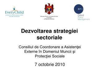 Dezvoltarea strategiei sectoriale