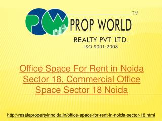 Office Space For Rent in Noida Sector 18, Commercial Office