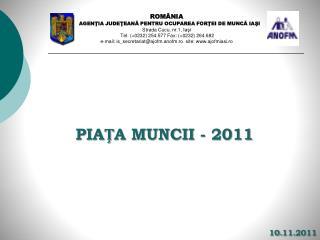PI A Ț A  MUNCII  -  2011