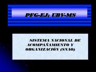 PFG-EJ; UBV-MS