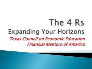 The 4  Rs Expanding Your Horizons
