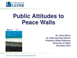 Public Attitudes to Peace Walls