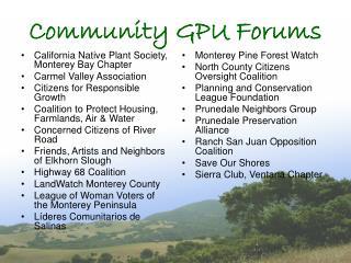 Community GPU Forums