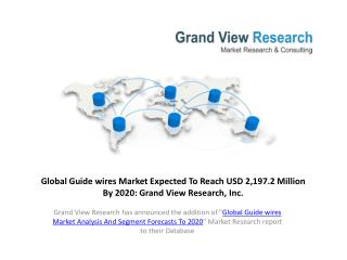 Guidewires Market Share to 2020:Grand View Research, Inc.