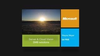 Server & Cloud Vision SMB solutions