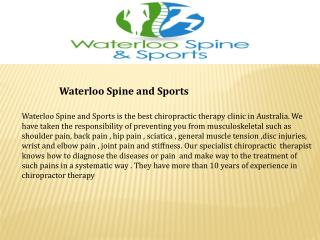 Waterloo Massage- Waterloo Spine and Sports
