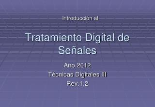 Tratamiento Digital de Señales