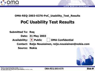 OMA-REQ-2003-0376-PoC_Usability_Test_Results PoC Usability Test Results