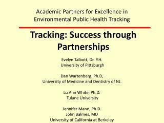 Tracking: Success through Partnerships