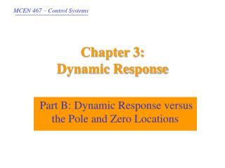 Chapter 3:  Dynamic Response