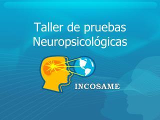 Taller de pruebas Neuropsicol�gicas