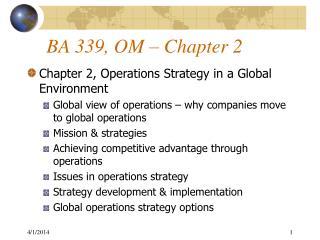 BA 339, OM   Chapter 2