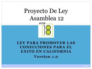 Proyecto De Ley   Asamblea 12