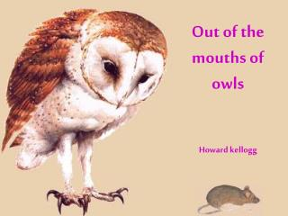 Out of the mouths of owls Howard kellogg