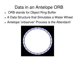 Data in an Antelope ORB