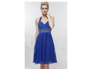 Blue Sweetheart Cocktail Dress on Promonsale.co.uk