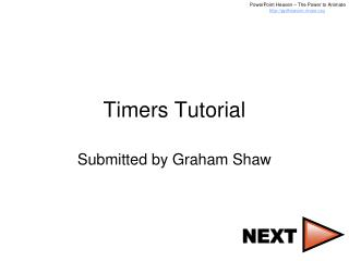 Timers Tutorial