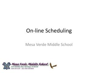 On-line Scheduling