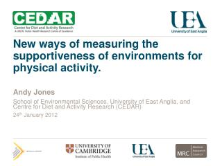 New ways of measuring the supportiveness of environments for physical activity.