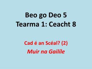 Beo go Deo 5 Tearma 1: Ceacht 8