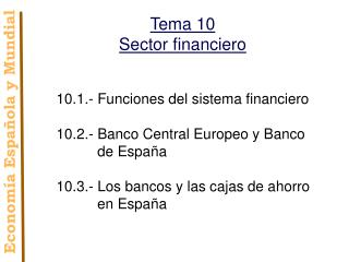 Tema 10 Sector financiero