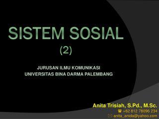 SISTEM SOSIAL (2)
