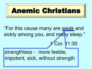 Anemic Christians