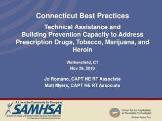 Connecticut Best Practices Technical Assistance and