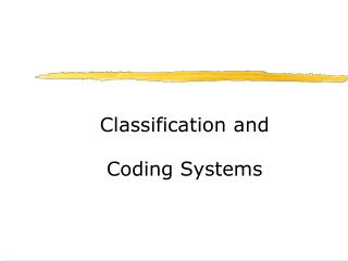 Classification and Coding Systems