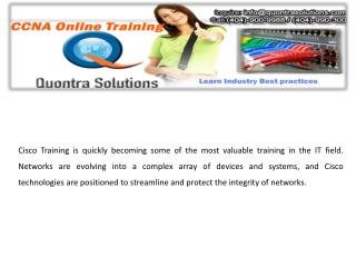 CCNA online Training| with Placement Quontra Solutions