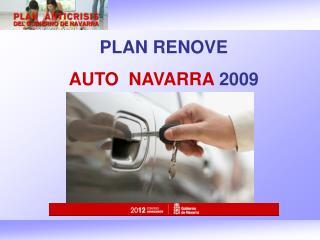 PLAN RENOVE  AUTO  NAVARRA  2009