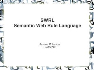 SWRL Semantic Web Rule Language