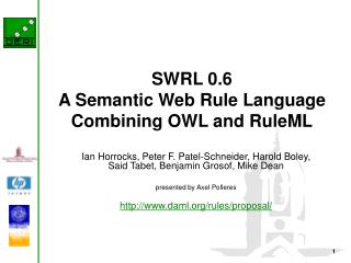 SWRL 0.6 A Semantic Web Rule Language  Combining OWL and RuleML