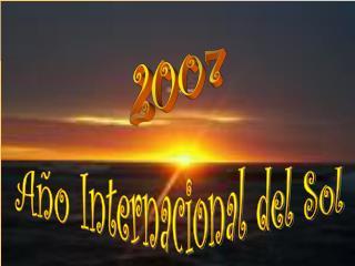 Año Internacional del Sol